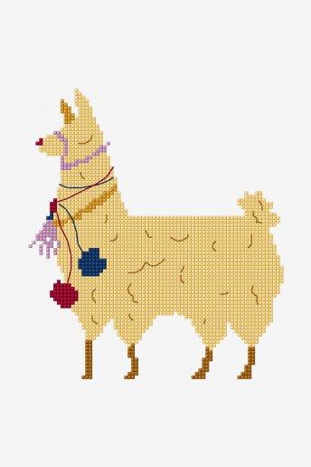 Lama - motif point de croix
