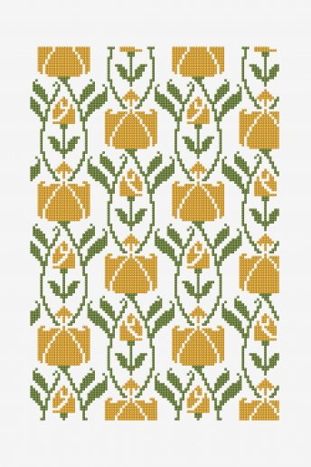 French Yellow Roses - pattern