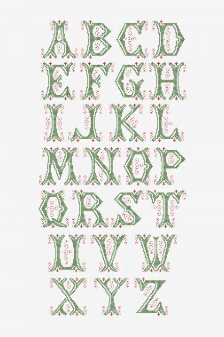 Vintage Alphabet Letters - pattern - Intermediate