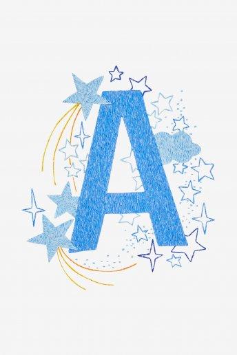 Star sampler - A - Diagrama de bordado