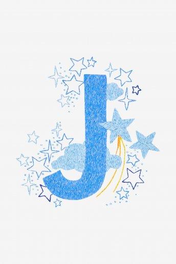 Star sampler - J - Diagrama de bordado