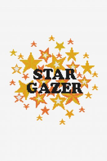 Star Gazer - Diagrama de punto cruz