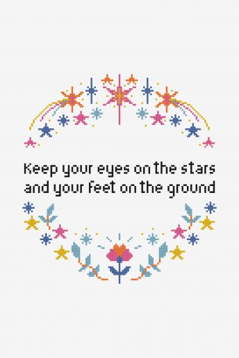 Eyes On The Stars  - Diagrama de punto cruz