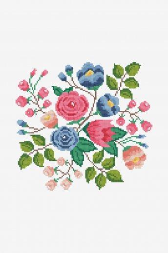 Spring Flower Bouquet By Alexandra Tureanu - pattern