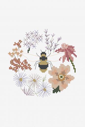 Flowers Bees Love by Cathy Eliot - pattern