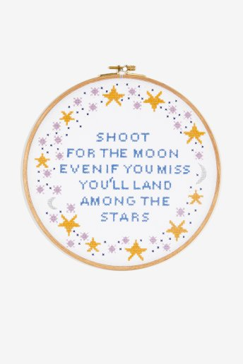 Shoot For The Moon - Diagrama de punto cruz