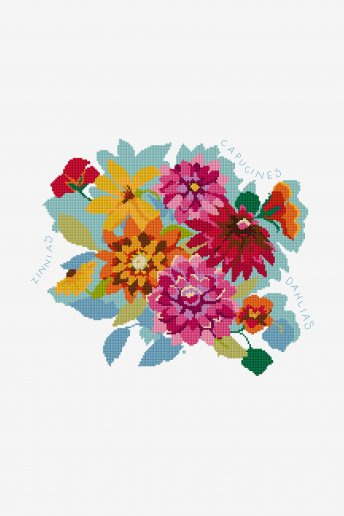 Bouquet multicolore - SCHEMA GRATUITO