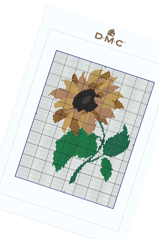 Sunflower stitch variant pin