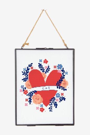 Floral Heart - pattern