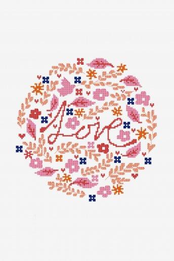 Amour - motif point de croix