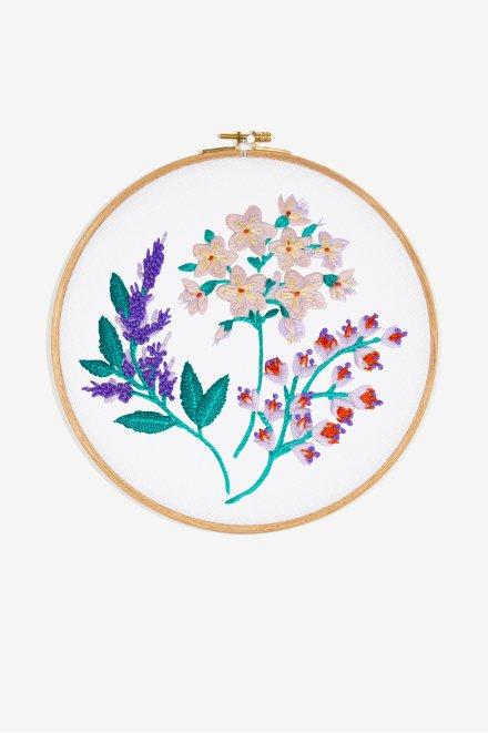 Menta en flor - Diagrama de bordado