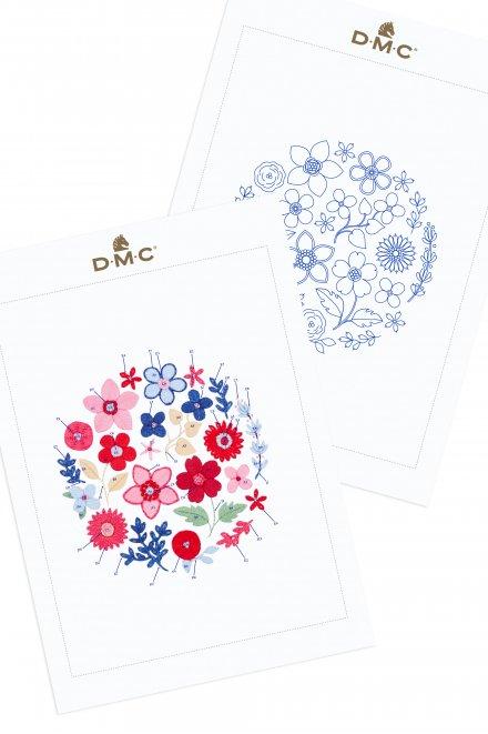 Lluvia de flores - Diagrama de bordado