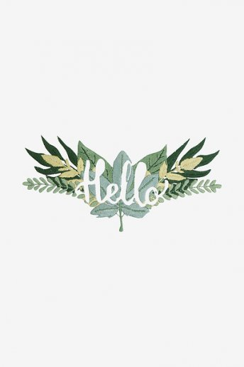 Hello Leaves - pattern