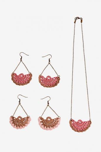 Fan Necklace And Earrings - pattern