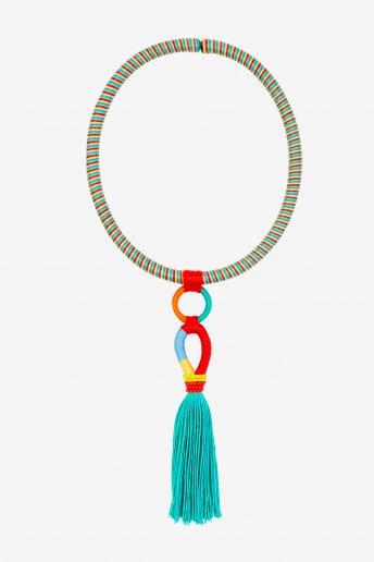 Collier avec pompon - motif loisirs créatifs