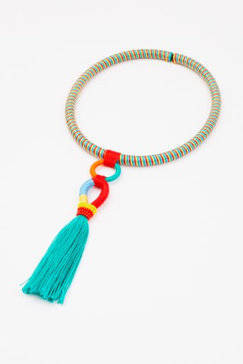 Necklace with Tassel - pattern