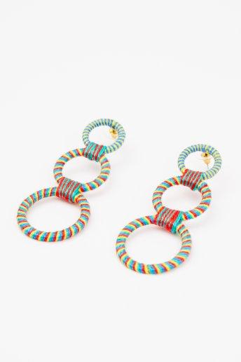 Boucles d'oreilles anneaux - motif loisirs créatifs