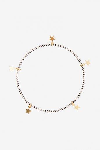 Bracelet écru et noir avec des étoiles - motif loisirs créatifs