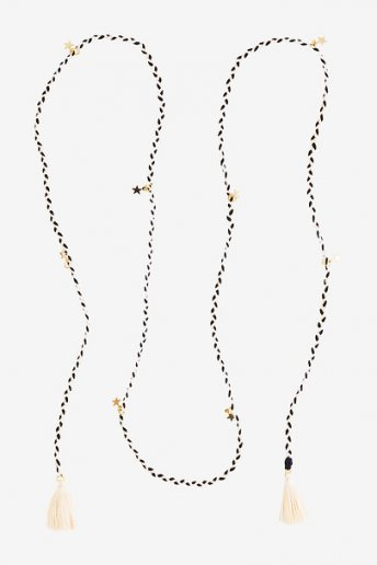 Braided Necklace with Stars - pattern