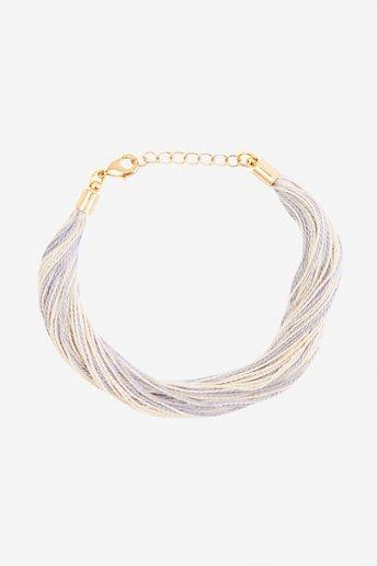Bracelet écru et gris - motif loisirs créatifs