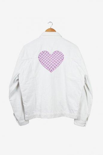 Coeur Bargello - motif broderie