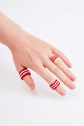 Red Stripes Ring - pattern