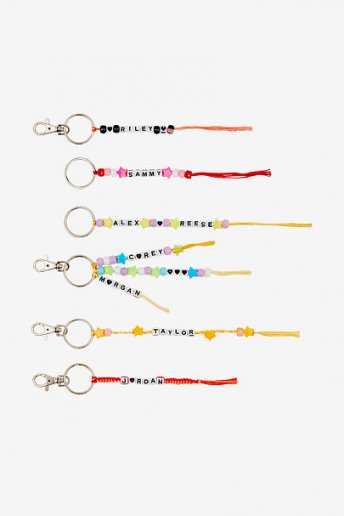 Name Keyrings - pattern