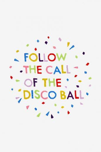 Suivre la boule disco - motif broderie