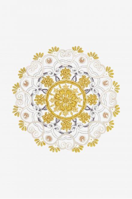 Silver and Gold Mandala - pattern