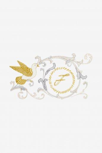 Pájaro y arabescos - DIAGRAMA DE BORDADO