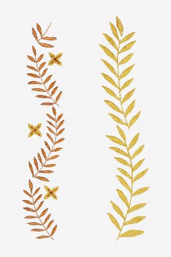 Frises végétales - motif broderie