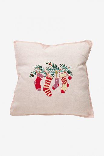 Les chaussettes de Noël - motif point de croix