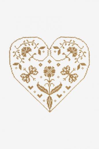 Coeur - motif point de croix