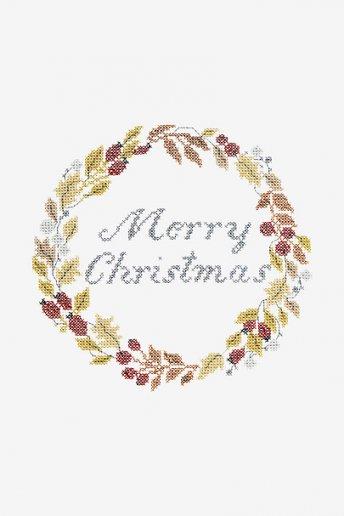 Couronne de Noël - motif point de croix