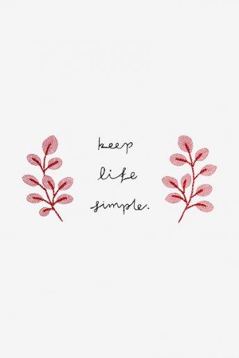 Garder la vie simple - motif broderie