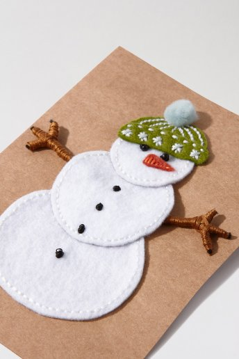 Snowman Christmas Card - pattern