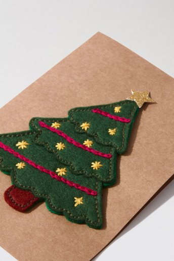 Christmas Tree Card - pattern