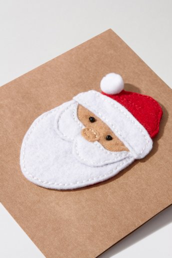 Santa Christmas Card - pattern