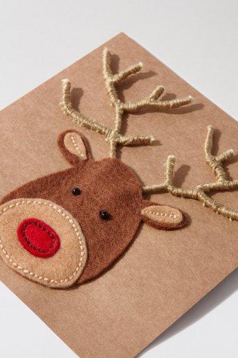 Rudolf Christmas Card - pattern