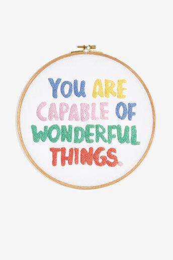 Vous êtes capable de choses merveilleuses - motif broderie