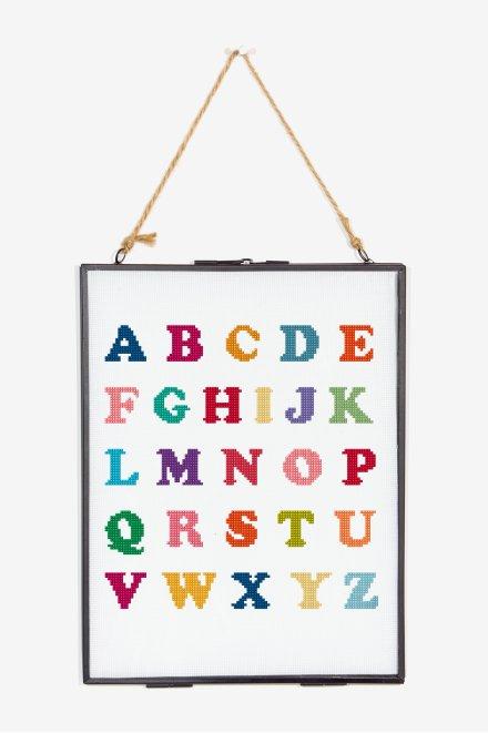 Bright Alphabet Cross Stitch - pattern - Free Cross Stitch Patterns