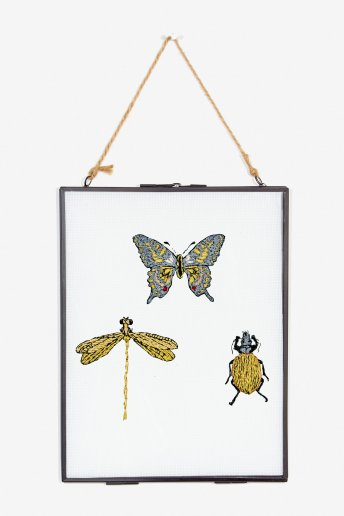 Papillons - motif broderie