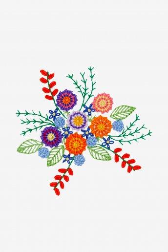 Farbige Blütenpracht - STICKMOTIV
