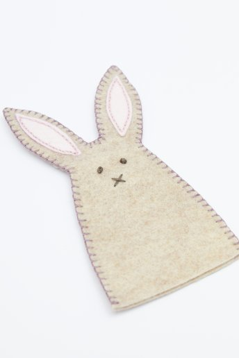 Bunny Egg Warmer - Front View - pattern