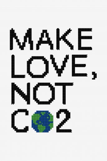 Make Love, Not CO2 -  Diagrama de punto cruz