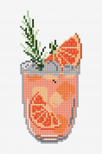 Grapefruit Spritz - Punto de Cruz - DIAGRAMA