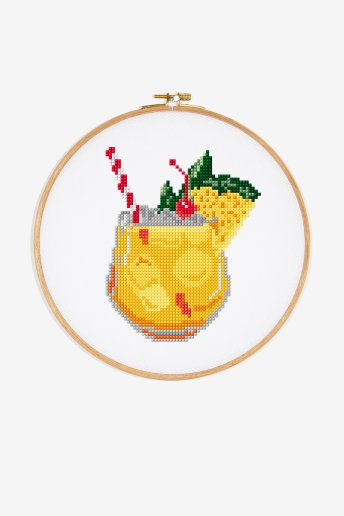 Pineapple Cooler - Punto de Cruz - DIAGRAMA