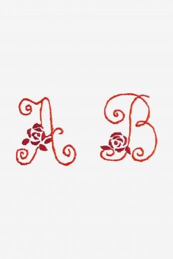 Roses Alphabet - pattern