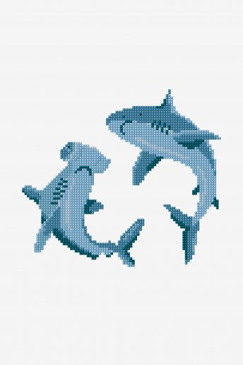Requins - motif point de coix
