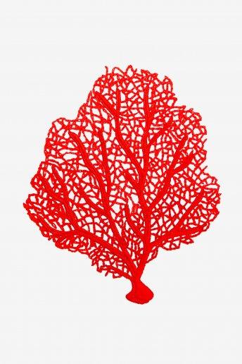 Crimson Sea Fan coral - pattern